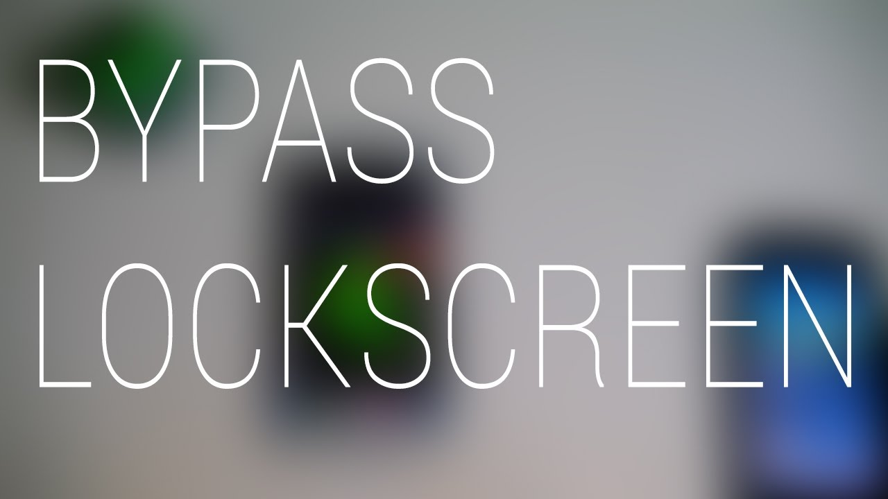 Bypass the lock screen on Android