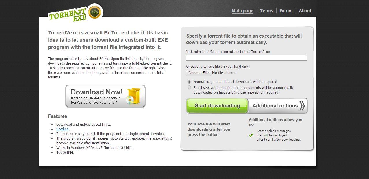 torrent2exe download torrents