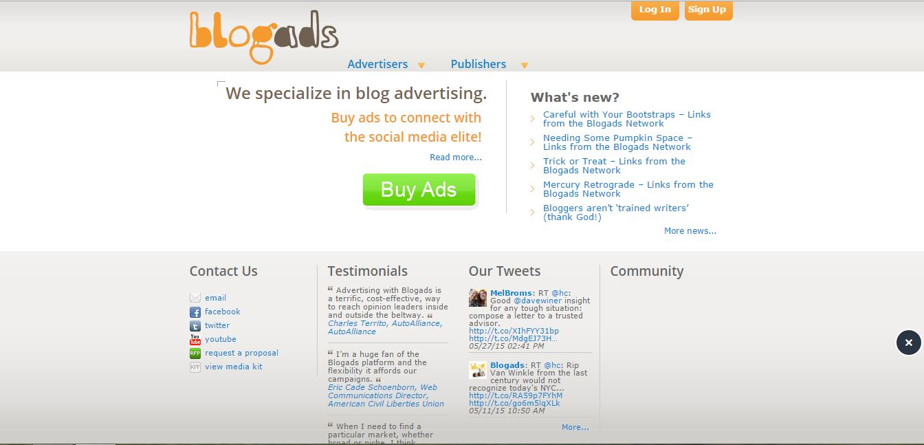 best ad networks blogads