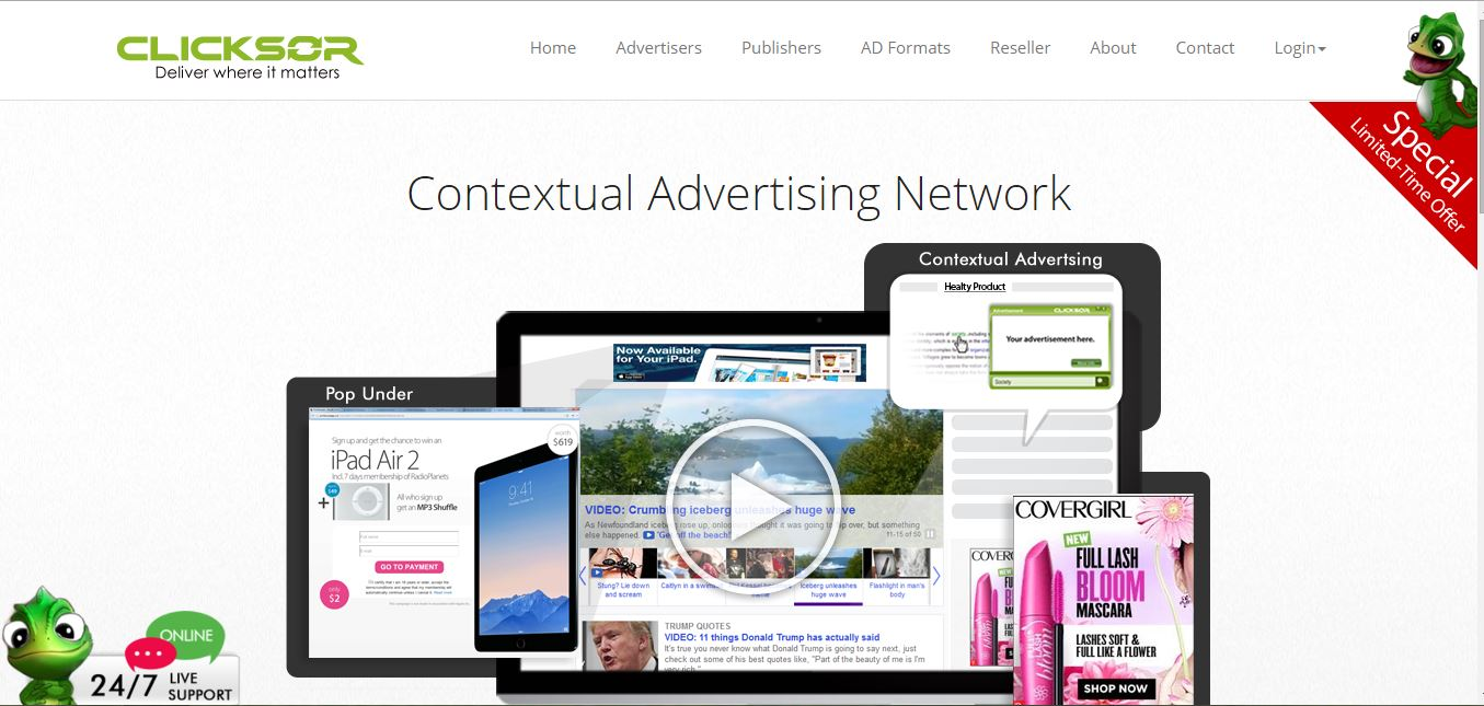 best ad networks clicksor
