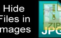 hide files behind image