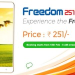 Freedom 251 Mobile At Just Rs.251! Booking Starts From 18th Feb-6 AM