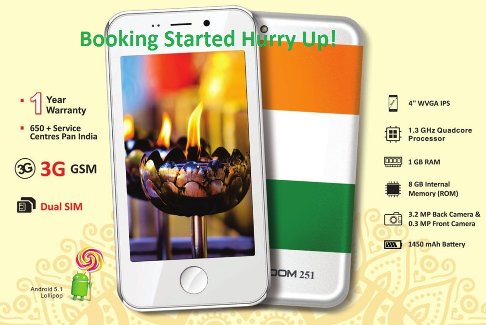 Freedom 251 Mobile Online Booking Open Now!
