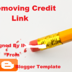 How To Remove Footer Credit Link From Blogger Template?