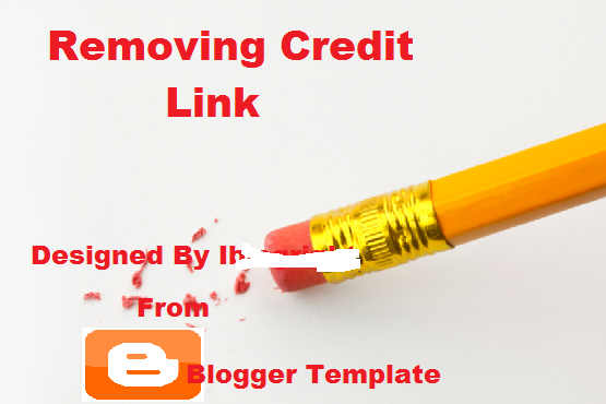 remove footer credit link from Blogger