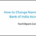 How to Change Name in State Bank of India Account