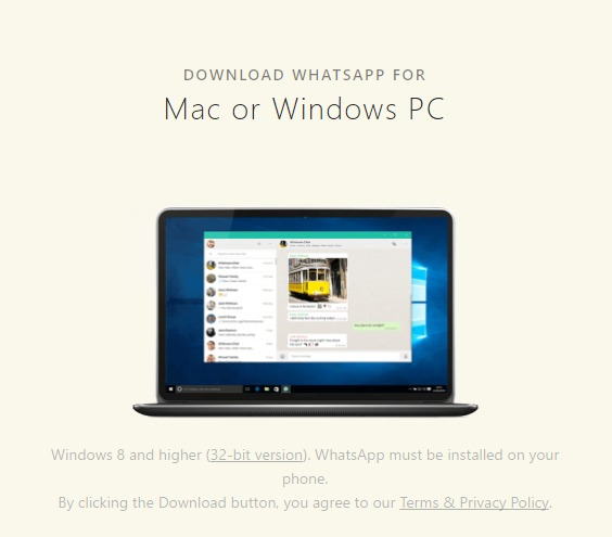 Download WhatsApp for Windows and Mac (setup files)