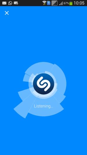 shazam app listening